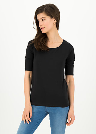 logo shirt legere, simply black, Shirts, Schwarz