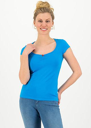 logo shortsleeve feminine, simply blue, Shirts, Blue