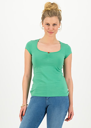 logo shortsleeve feminine, simply green, Shirts, Green