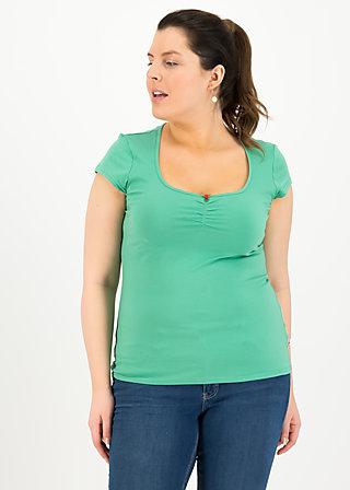 logo shortsleeve feminine, simply green, Shirts, Grün