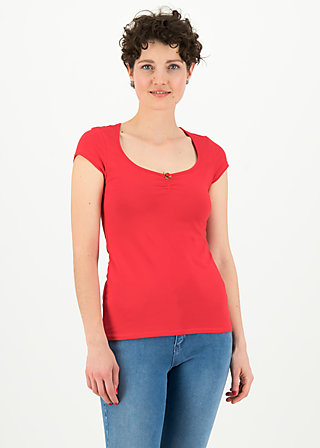 logo shortsleeve feminine, simply red, Shirts, Red