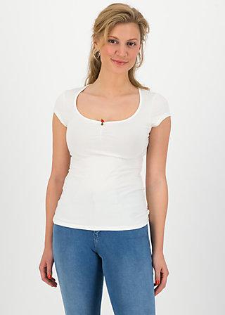 logo shortsleeve feminine, simply white, Shirts, Weiß