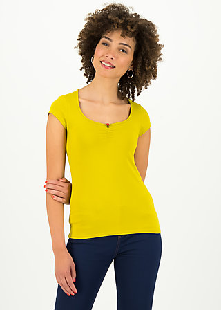 logo shortsleeve feminine, simply yellow, Shirts, Gelb