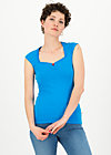 logo top romance uni, simply blue, Shirts, Blue