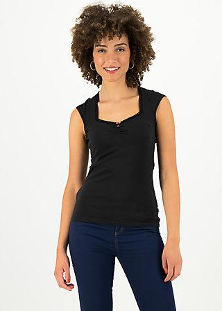 logo top romance uni, simply black, Shirts, Black
