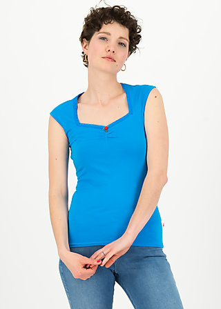 logo top romance uni, simply blue, Shirts, Blau