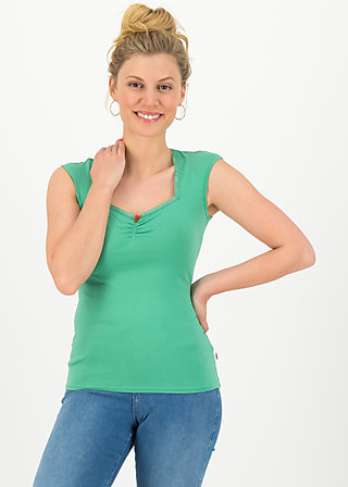 logo top romance uni, simply green, Shirts, Grün