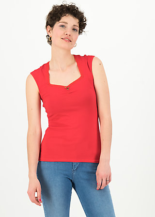 logo top romance uni, simply red, Shirts, Rot