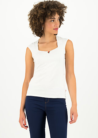 logo top romance uni, simply white, Shirts, Weiß