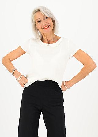 logo woven blouse, milky white, Shirts, Weiß