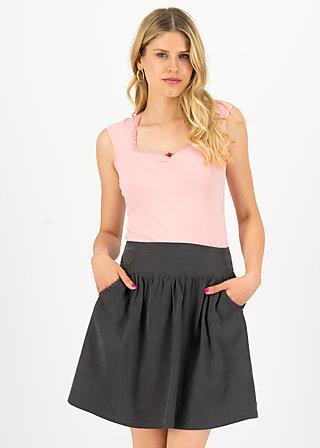 logo woven skirt, casual anthracite, Röcke, Schwarz