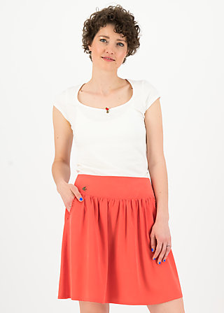 logo woven skirt, dusty red, Röcke, Rot