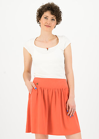 logo woven skirt, dusty red, Skirts, Red
