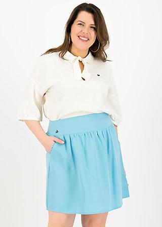 logo woven skirt, pale blue, Skirts, Blue