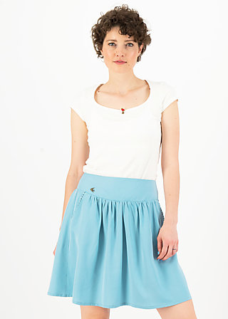 logo woven skirt, pale blue, Skirts, Blue
