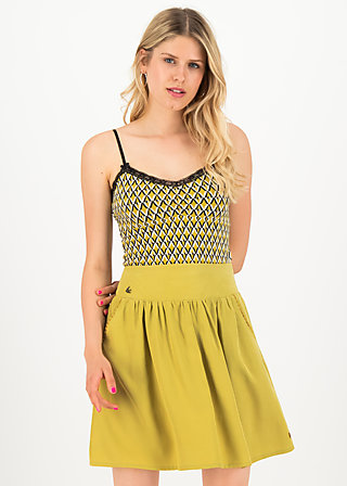 logo woven skirt, sweet yellow, Röcke, Gelb