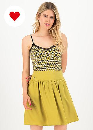 logo woven skirt, sweet yellow, Skirts, Yellow