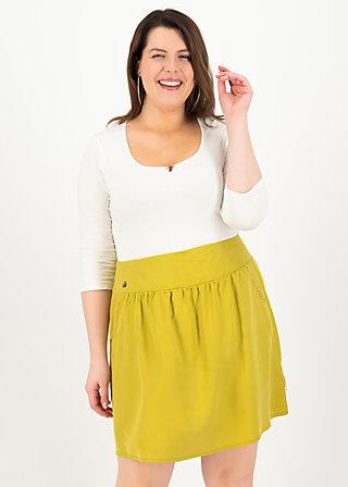 logo woven skirt, sweet yellow, Röcke, Gelb