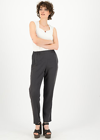 logo woven trousers, casual anthracite, Trousers, Black