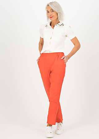 logo woven trousers, dusty red, Trousers, Red