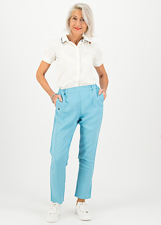 logo woven trousers, pale blue, Trousers, Blue