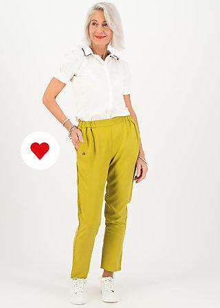 logo woven trousers, sweet yellow, Trousers, Yellow