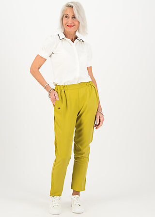 logo woven trousers, sweet yellow, Hosen, Gelb