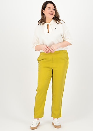 logo woven trousers, sweet yellow, Hosen, Gelb