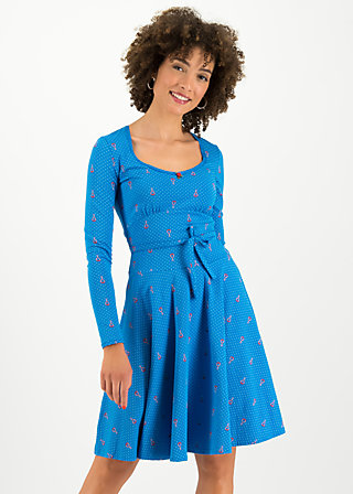 Jerseykleid ode to the woods, blue tippi dots, Kleider, Blau