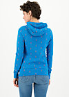 Hoodie riders in the tent, blue tippi dots, Pullover & Sweatshirts, Blau