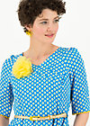 rumbling rose robe, blueday daisy, Kleider, Blau