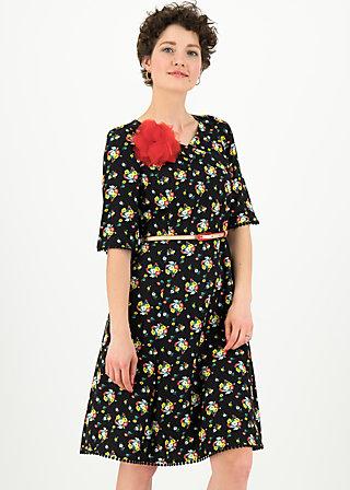 rumbling rose robe, campsite flowers, Dresses, Black