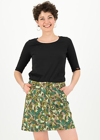 snake, rattle and roll skirt, veggieflage, Röcke, Braun