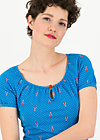 T-Shirt start it with a kiss, blue tippi dots, Shirts, Blue