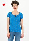 start it with a kiss tee, blue tippi dots, Shirts, Blau