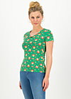 sunshine camp t-shirt, jungle flowers, Shirts, Grün