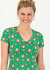 sunshine camp t-shirt, jungle flowers, Shirts, Grün
