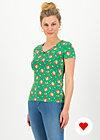 sunshine camp t-shirt, jungle flowers, Shirts, Green