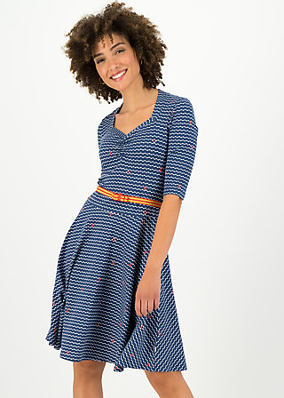 Jersey Dress suzie the snake, over the ocean, Dresses, Blue
