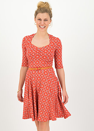 Jerseykleid suzie the snake, sea flower, Kleider, Rot