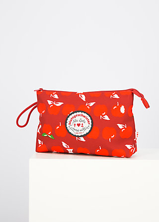 sweethearts washbag, eat the apple, Accessoires, Red