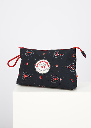 sweethearts washbag, red hood, Accessoires, Black