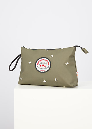 sweethearts washbag, snow swallow, Accessoires, Green