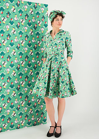 swinging jamboree  dress, girl scout, Kleider, Grün