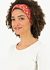 Headband tiny knot, sea flower, Accessoires, Red
