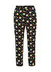 upsy daisy trousers, campsite flowers, Trousers, Black