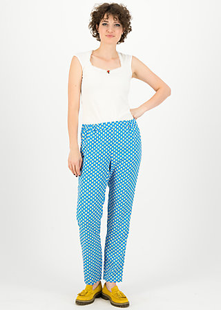 Pleated Front Trousers upsy daisy, blueday daisy, Trousers, Blue