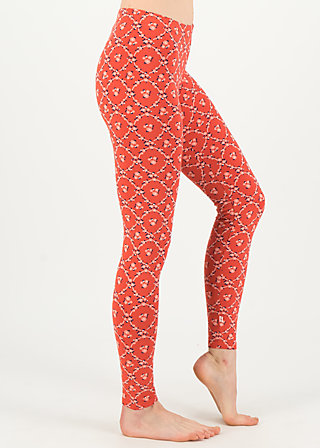 walk the line legs, sea flower, Leggings, Red
