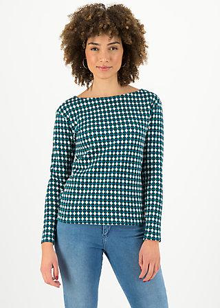 Longsleeve my cosy valentine, cool checker, Pullover & Sweatshirts, Blau