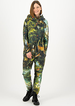 Jumpsuit cozy cocoon, forest of dreams, Green